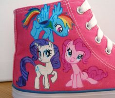 Hand painted Children My Little Pony shoes Princess by BeressyArt