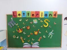 Letterland bulletin board Teaching Phonics, Teaching Kids, Alphabet Activities, Activities For Kids, School Projects, Projects To Try, Class Decoration, Room Mom, Classroom Themes