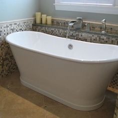 Ledge behind Stand Alone Tub