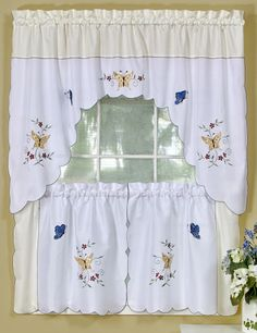 Kitchen Curtain Sets Design Cabinets 25 Best Window Curtains Tier Valence Combination Images Discount Swags Tiers Galore