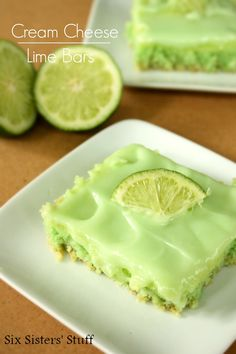 Cream Cheese Lime Bars from SixSistersStuff.com