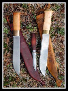 "Helle Lapland & Strömeng knives, 8"""