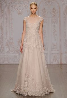 Primrose A-Line Wedding Dress | Monique Lhuillier Fall 2015 | blog.theknot.com