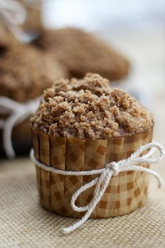Carrot & Apple Cinnamon Streusel Muffins