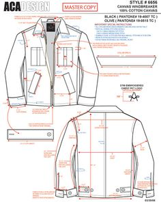 Tech Pack Example Work 1 on Behance sheet garment Fashion Technical Design Example Work Sewing Men, Sewing Clothes, Diy Clothes, Artisanats Denim, Flat Drawings, Technical Drawings, Style Masculin, Tech Pack, Fashion Vocabulary