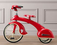 Sky King Junior Tricycle by Restoration Hardware Baby & Child Tricycle, Retro Toys, Vintage Toys, Recycled Bike Parts, Velo Retro, Restoration Hardware Baby, Estilo Retro, Building For Kids, Kids Bike