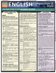 English Composition & Style - This essential writing tool demonstrates how…
