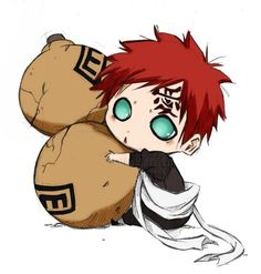 Chibi Gaara ... Ain't he the cutest thing ever!!