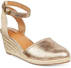 Style & Co Mailena Wedge Espadrille Sandals, Created for Macy's Shoes - Sandals & Flip Flops - Macy's Ankle Strap Wedges, Wedge Heels, Espadrille Sandals, Espadrilles, Macys Womens Shoes, Look Alike, Crazy Shoes, Flip Flop Sandals, Women's Shoes