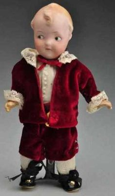 Rare Heubach 9085 Googly Doll.  German bisque socket head incised with Heubach square mark and mold number 9085