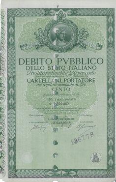 DEBITO PUBBL. DELLO STATO ITALIANO - PRESTITO REDIM. 3,50% - CARTELLA AL PORT. - #scripomarket #scriposigns #scripofilia #scripophily #finanza #finance #collezionismo #collectibles #arte #art #scripoart #scripoarte #borsa #stock #azioni #bonds #obbligazioni