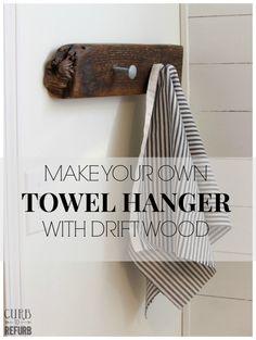 driftwood towel hang