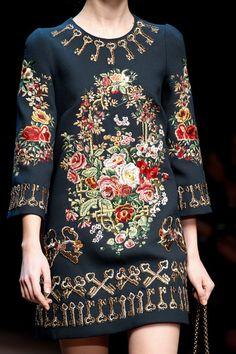 Dolce & Gabbana Fall 2014.  I love the KEYS!