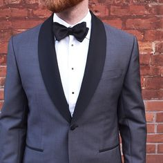 It's all in the details. Stand out in a grey tux with a contrast lapel. We promise you'll get endless compliments.  Purchase a tuxedo jacket or suit and get a tuxedo shirt 50% off  Outfit details: Hardy Aimes tuxedo Stenstroms tuxedo shirt Dion bow tie . . . . #torontostyle #torontofashion #torontolife #ootdmen #dapper #suitup #mensfashion #suitandtie #wiwt #gqstyle
