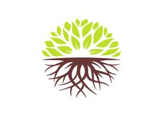 Design from best 2012 - worldwide logo & identity design contest Roots Drawing, Logo Branding, Branding Design, Clover Logo, Inspiration Logo Design, Logo Design Competition, Plant Logos, Circular Logo, Agriculture Logo