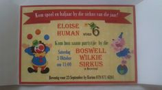 Sirkus partytjie uitnodiging Circus Birthday, Circus Party, Carnival, Words, October, Carnavals, Carnivals, Horse
