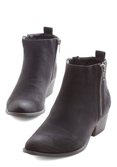 For You I Quilt Bootie in Black, @ModCloth
