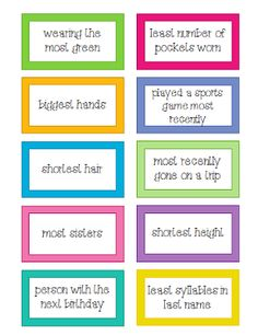 I Love 2 Teach: Who Goes First? 40 Ways for Kids to Decide - 40 cards to use when deciding who starts a group activity or a game