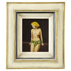 French Art Deco Nude Painting, Framed #huntersalley