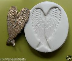 Angel Fairy Heart Crossed Wings CNS Polymer Clay Mold | eBay