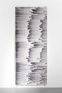 Written Language (line drawing/oak gall ink), 2014, oak gall ink on paper, 280x113 cm.<br /> Photo: Thomas Jansson