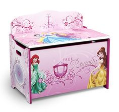 High performance of Delta Children Princess Deluxe Toy Box. This is great and the helpful info Delta Children Bargain Prices! Kids Bench, Kids Play Table, Kids Sofa, Kids Storage Units, Toy Storage, Storage Ideas, Princess Toys, Disney Princess, Princess Nursery