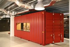 Shipping container cafe by CDS