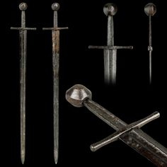 """French Medieval Sword 1300 Overall Length 40.5"""" Blade Length 33.74"""""""