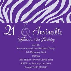 Birthday Fanfare 90 Square w Magnet in Samba Red Invitation