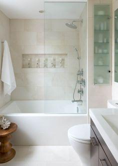drop in shower tub combo. Hem Sade  Hem Huzurlu Her Eyi Yerli Yerinde A Da Bir Banyo Dekorasyonu Drop In Tub Shower Combo Frameless Glass Built Shelf Medium