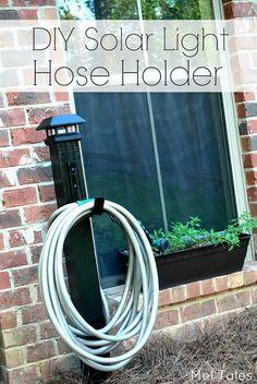 DIY Solar Light Hose Holder