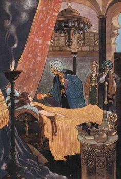 bday 12-11 rene bull arabian nights illustration
