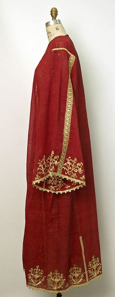 Greece, long tunic worn under a shorter dress, gold embroidered cotton, c - early c Textiles, Greek Traditional Dress, Kaftan Style, 20th Century Fashion, Folk Costume, Historical Clothing, Beautiful Outfits, Ottoman, Vintage Outfits
