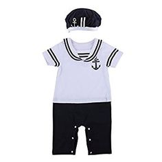 Baby Boy Sailor Romper Wedding Christening Party Outfit Suit Soft Jumpsuit Tuxedo Birthday Gift(6-9 Months)
