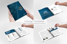 Business / Annual InDesign Template by Creative Template on @creativemarket