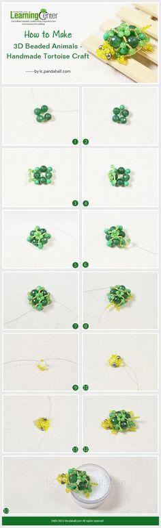 How to Make 3D Beaded Animals - Handmade Tortoise Craft