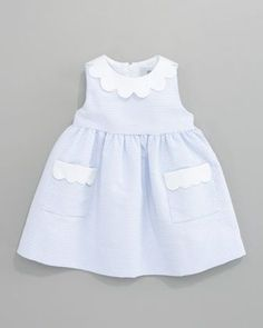 Florence Eiseman Scalloped-Trimmed Striped Dress. Such a cute dress for the baby girls in your life.