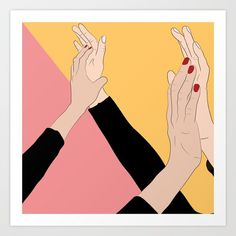 Buy Compañeras Art Print by idalisses. Worldwide shipping available at Society6.com. Just one of millions of high quality products available.