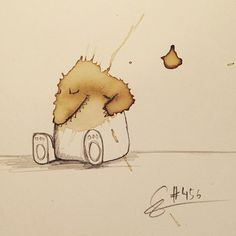 Funny Monster Drawings Made From Coffee Stains – Fubiz Media
