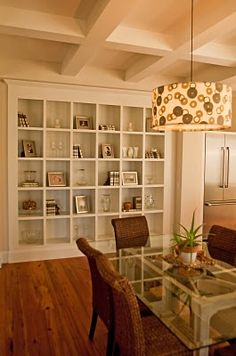 I want these square shelves in my dining room.