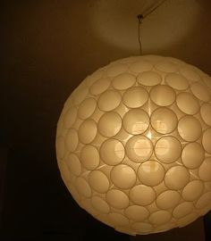 Plastic Cups Chandelier - My dad made these in the 1960's with Styrofoam cups after seeing Buckminister Fuller speak.