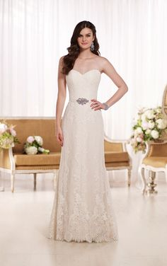 Wedding Dresses | A Line Lace Wedding Dress | Essense of Australia #Essense #weddingdress