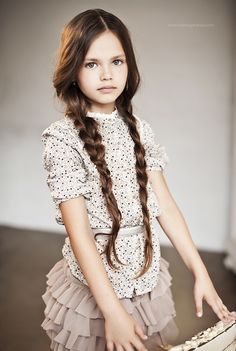 This little Russian girl (Elle cover at the age of ten) is just too beautiful #dianapentovich