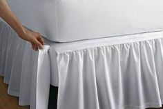 Detachable Gathered Bedskirt - drop at The Company Store - Bed Basics - Bedskirts - TwinDetachable gathered cotton bedskirt with split corners. Attaches with Velcro®. This bedskirt is gathered at the top for an extra-luxurious look. The Company Store, Bed Company, How To Make Bed, Bed Sheets, Fitted Sheets, Diy Home Decor, Upholstery, Shabby Chic, Bedroom Decor