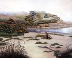 Image on new fine arts website. Morning View, Early Morning, Pescadero Beach, Landscape Paintings, Landscapes, New Fine Arts, Art Sites, Limited Edition Prints, Stretched Canvas