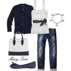 Perfect for Spring Outings, created by mary-tom on Polyvore. Love the shirt! super cute