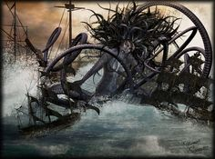 Capture of the octopus monster