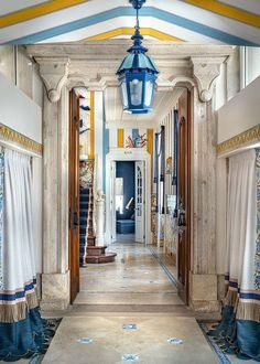 Hotel Hallway, Large Tapestries, Modern Materials, Stairways, Installation Art, Contemporary Artists, Golden Age, Glamour, Architecture