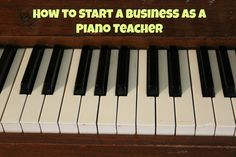 Learn how to start a business as a piano teacher in our expert interview! #wahm #workfromhome
