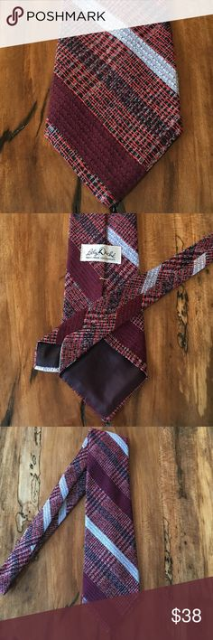 Lilly Dache - Men's Woven /Tweed Plaid Tie Lilly Dache - Men's woven /tweed / plaid tie in red, gray, white, burgundy, and black. Perfect condition. Smoke free home. Check out my bundle discount! Lilly Dache Accessories Ties